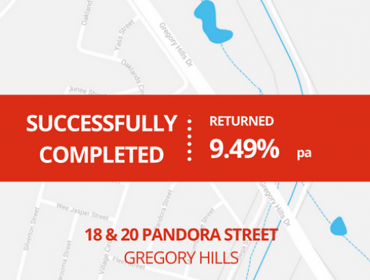 SUCCESSFULLY COMPLETED - GREGORY HILLS NSW (1615)
