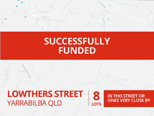 SUCCESSFULLY FUNDED - YARRABILBA QLD (1616)