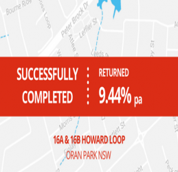 SUCCESSFULLY COMPLETED - ORAN PARK NSW (1706)
